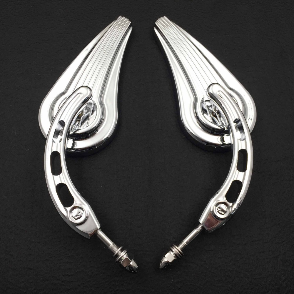 Aftermarket free shipping motorcycle accessories retroviseur moto Raindrop Side Mirrors For 1984and up Harley Davidson Softtail
