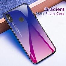 CASPTM Gradient Tempered Glass Case For Xiaomi Pocophone F1 Mi 8 6 A2 Lite A1 Mi8 Mi6 Redmi Note 5 Pro Mi6X Mi5X Phone Cover