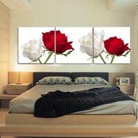 Rosa rossa tela poster e stampe in bianco e nero nero rosso arte della tela di canapa foto immagini Wall stickers home decor beach wall art
