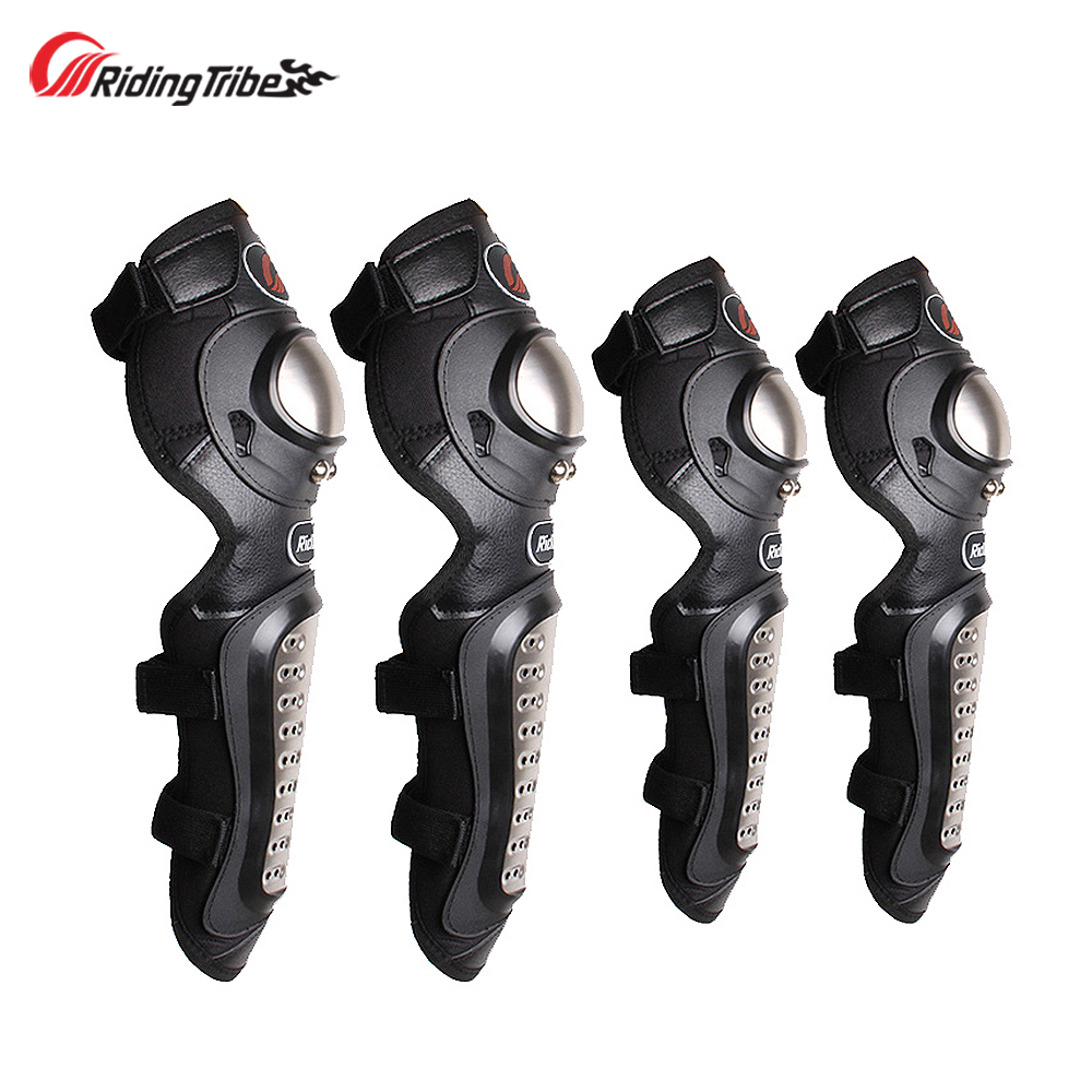 Kneepads Motorcycle Stainless Steel Protective Gear Knee Pads Elbow Pads Motorbike Motocross Racing Body Protector Guards HX P15|Motorcycle Protective Kneepad| |  - title=