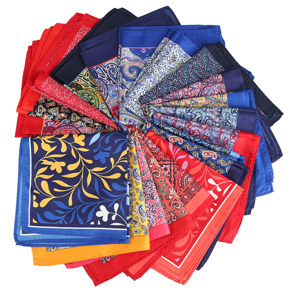 Luxury 33 X 33CM Mans Floral Flower Pocket Square Hankies Chest Towel Big Size Handkerchief For Men's Suit Wedding Party