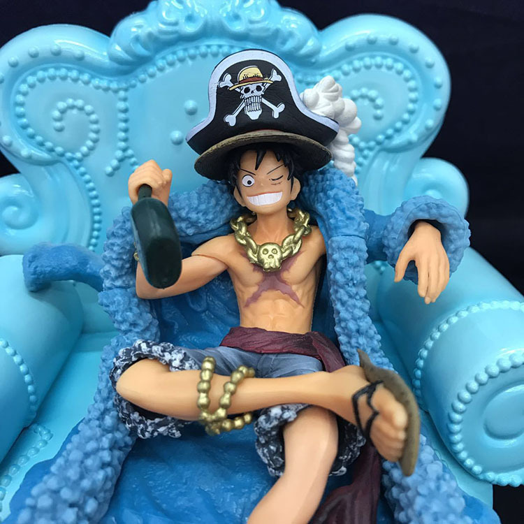 15cm One piece Luffy 20th anniversary Anime Action Figure PVC New Collection figures toys Collection for Christmas gift 11 5 16cm one piece luffy shanks action figure pvc collection model toys for christmas gift free shipping
