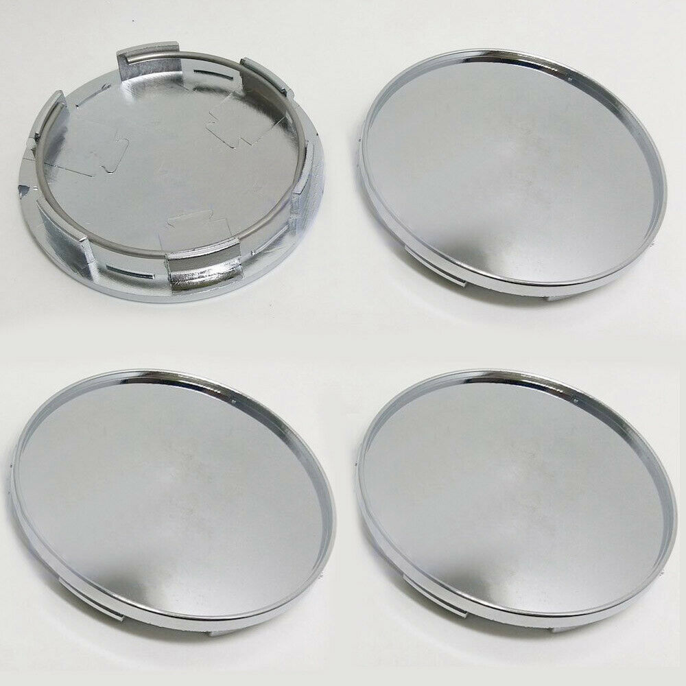 Image 2 - 4x/kit Chrome Silver Car Vehicle Wheel Center Hub ABS Cap Cover 68MM Decoration-in Car Covers from Automobiles & Motorcycles