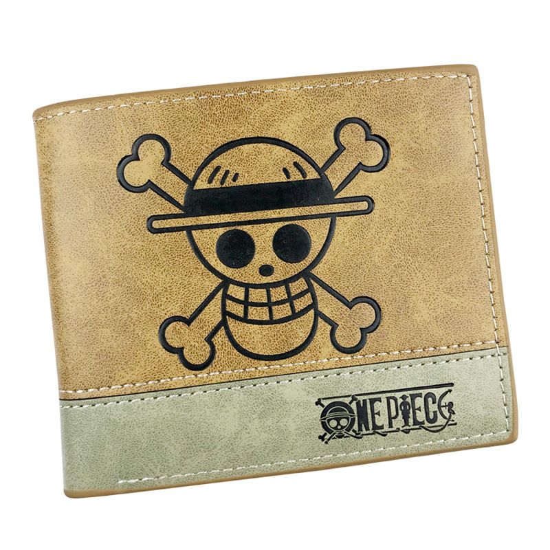Japanese Anime One Piece Wallet Lovely Cartoon Embossing LOGO Leather Short Purse with Card Holder Gift Kids Dollar Price Wallet 2016 new arriving pu leather short wallet the price is right and grand theft auto new fashion anime cartoon purse cool billfold