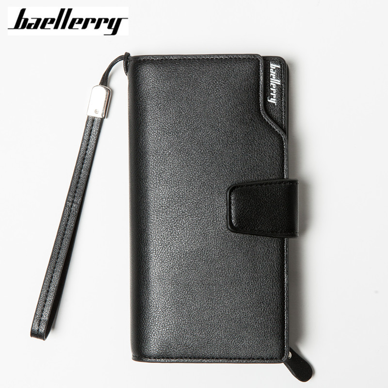 Baellerry Men Wallets 2017 New Design Men Purse Casual Wallet Clutch Bag Brand Leather Long Wallet Brand Hand Bags For Men Purse 2016 new men wallets casual wallet men purse clutch bag brand leather wallet long design men card bag gift for men phone wallet