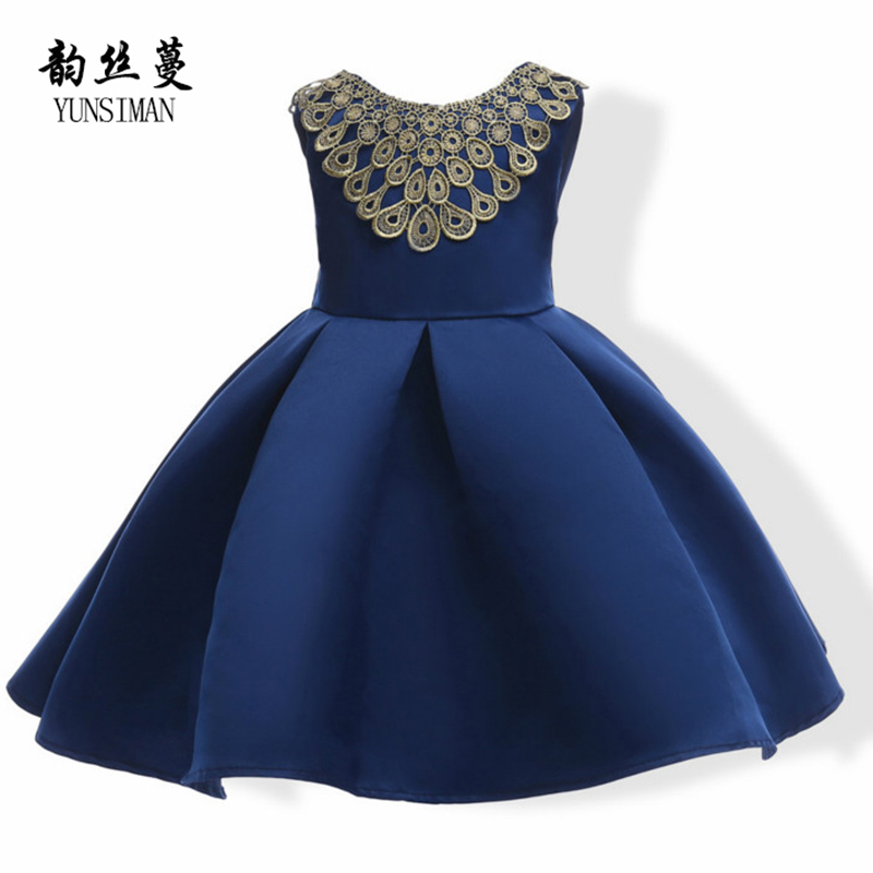 Baby Girls Wedding Dresses 6 8 10 Years Lace Decoration A-line Girls Dress for Wedding and Party Kids Teens Clothes 4 5 7 42T06 summer flower children princess dresses for wedding and party 1 2 3 4 5 6 7 8 years girls clothes new style toddlers kids dress