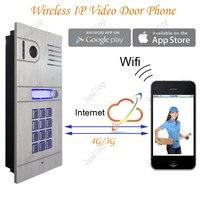Sem fio WIFI IP Telefone Video Da Porta via Smartphone Controle, controle de acesso porta de controle remoto pelo iphone, smartphone android & comprimidos