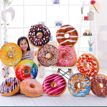 40cm Funny Chocolate Donut Sofa Seat Cushion Christmas Donuts Pillow Xmas Kid Present Toy Gifts Car Mats With PP Cotton Filling