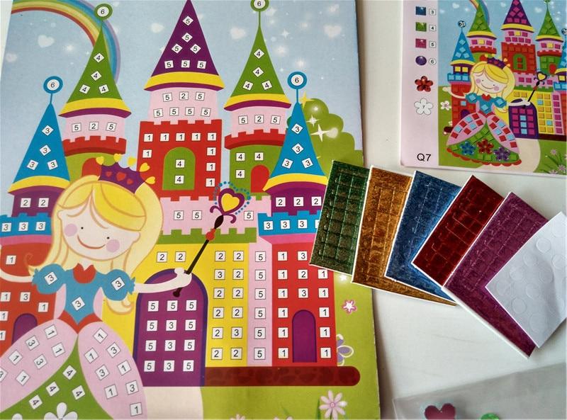 Happyxuan 12 unids / lote Glitter Crystal Eva Mosaico Pegatinas - Juegos y rompecabezas - foto 6