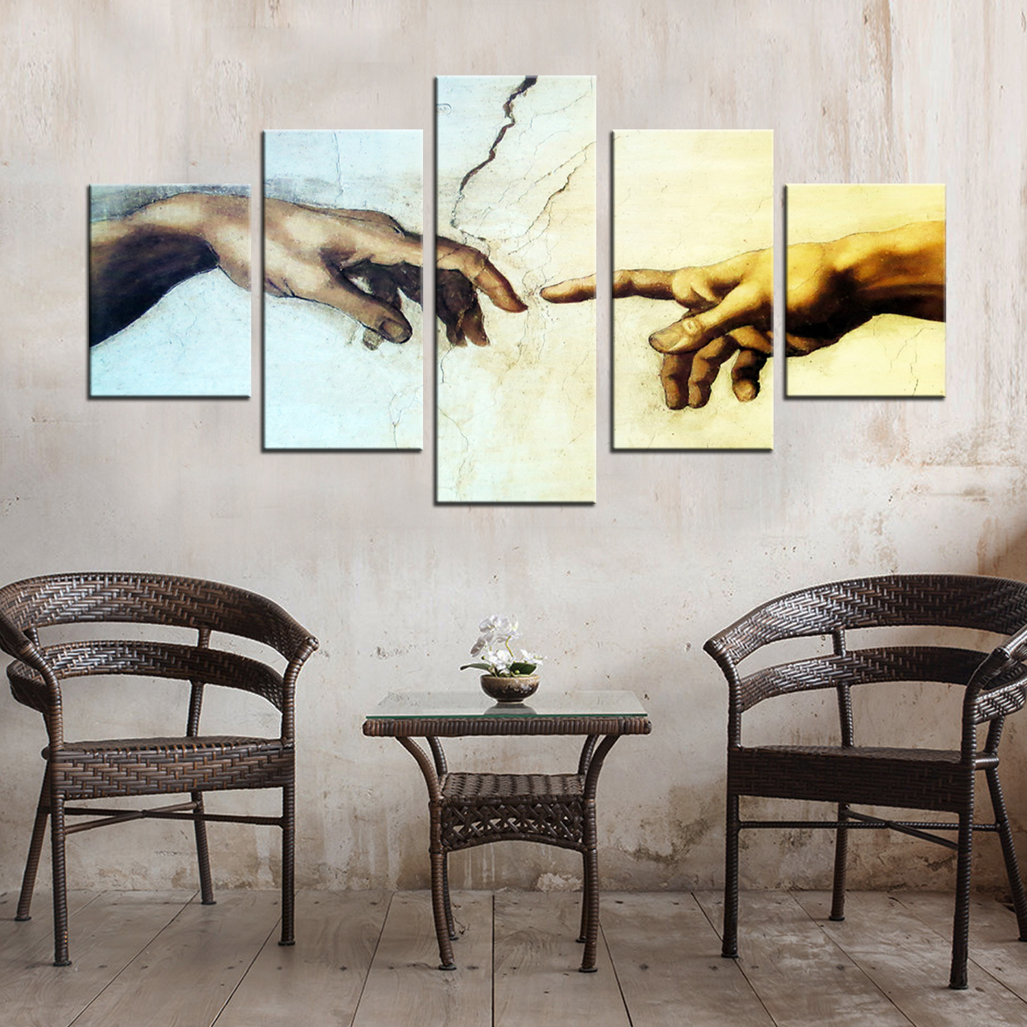 Drop Shipping Modular Wall Pictures Framed Canvas Paintings Printed Wall