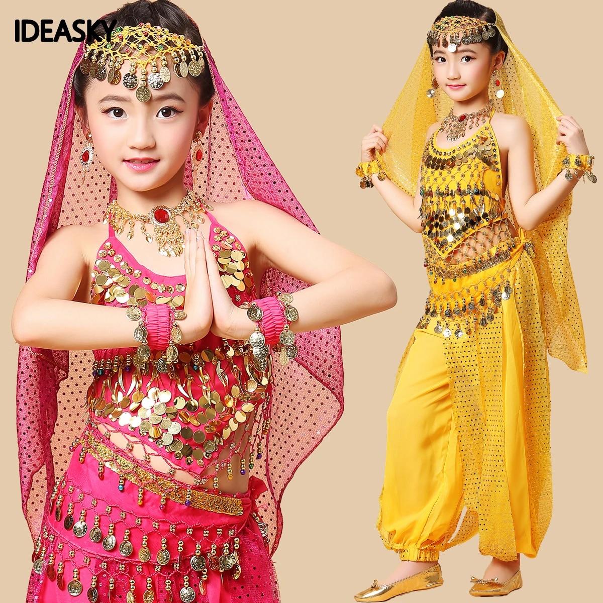 Kind Kinder Bollywood Indische Kleider Sari Fur Madchen Dance Kostume Top Hosen Kleid Bauchtanz Fur Verkauf Indische Kleidung Fur Kinder Dance Indian Indian Clothes For Kidsindian Clothes Aliexpress