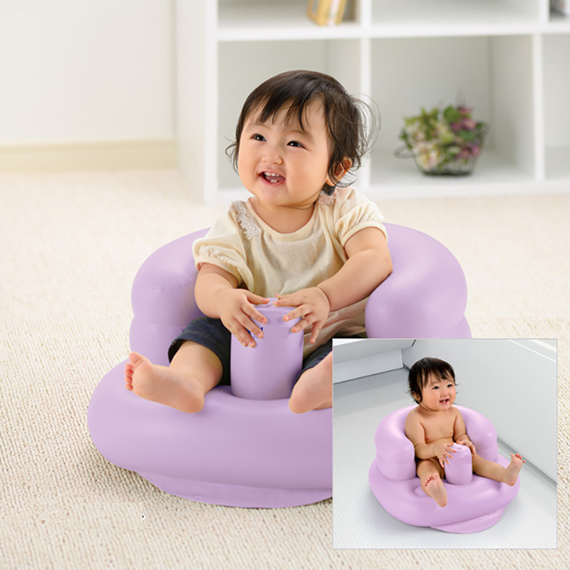 Baby Chair Bean Bag Infant Portable Kids Chair Baby Bath Seat Nest Bed New Inflatable Chair Beanbag Kids Baby Sofa Support Pink