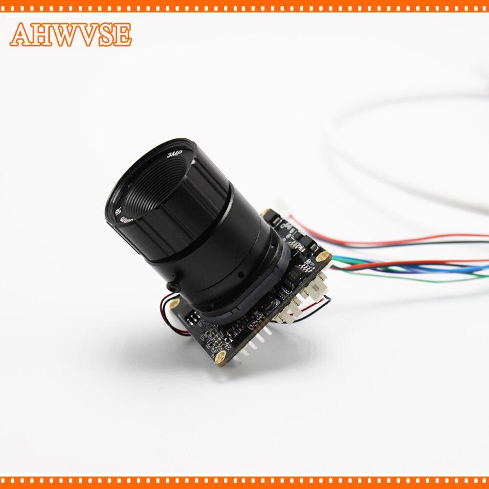 DIY IP caméra HD 1080 P IP Caméra avec 16mm CS Objectif 720 P 2MP Caméra de Sécurité avec IRCUT ONVIF CCTV Caméra Conseil Module RJ45 Câble