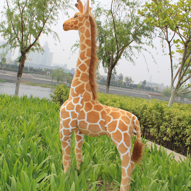 new simulation plush giraffe toy creative lovely giraffe doll birthday gift about 96cm big lovely simulation cow plush toy creative stuffed cow doll birthday gift about 75cm