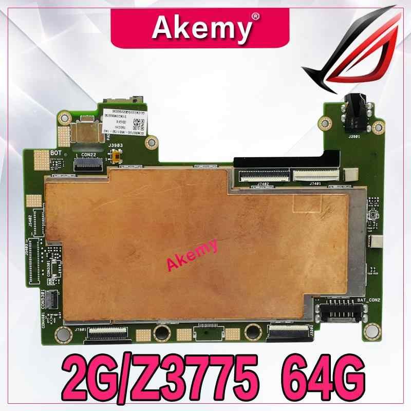 Akemy T90CHI Tablet Papan Utama dengan 64 GB SSD 2G RAM/Z3775 UNTUK ASUS Transbook T90CHI T90 Mainboard Logika sistem Papan Papan