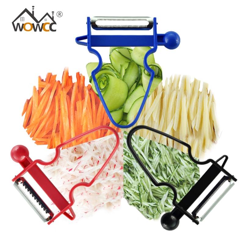 Dual Kopf Edelstahl Obst Werkzeug Obst Gemüse Schneider Schäler Cutter