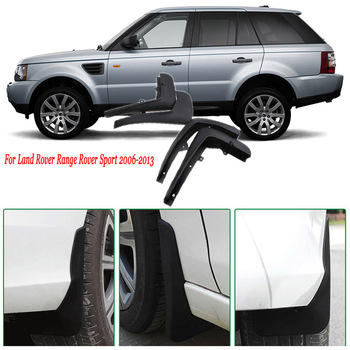 4 Pcs Premium Tugas Berat Molded Splash Flaps Lumpur Penjaga Fender untuk Land Rover Range Rover Sport 2006-2013
