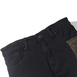 Image 3 - Scuro Icona Strato Tasche High Street Jeans Carico Degli Uomini Del Denim Dei Pantaloni Pantaloni da Uomo Streetwear