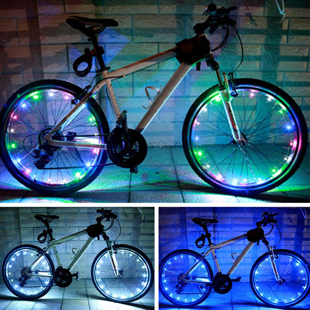 Tire Wire 20 LED Spoke Bicycle Accessories Bicycle LED Spoke Bike Wheel