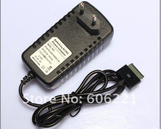 Free shipping   , 30pcs/lot NEW EU Netzteil Charger Adapter Kabel for Asus Eee Pad Transformer TF101 TF201 TF300 SL101