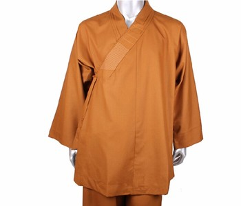 New Arrival Summer Mens Shaolin Monk Buddhist Costume Sengyi Monk Robes Suit Cotton Clothing