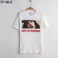 New Harajuku T Shirt Camisetas Mujer White T Shirt 2017 Summer Novelty Tee Shirt Femme Life