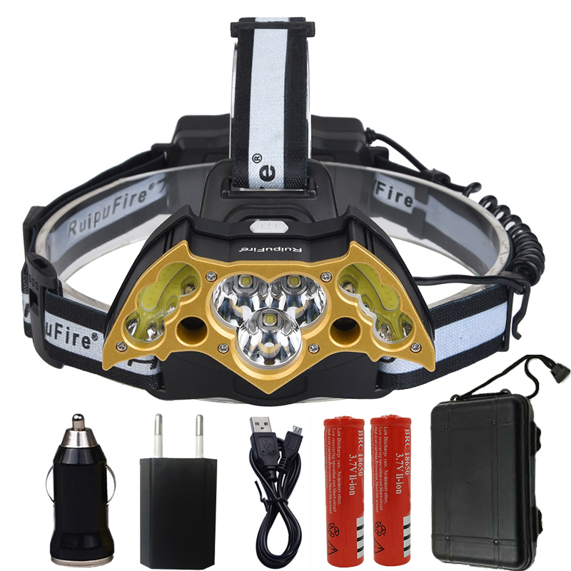 Z20 XML-T6 LED Headlight Super bright led head lamp adjustable Personality light Headlamp Bat shape high power led head Torch z20 led headlight headlamp sensor head lamp 4pcs xml t6