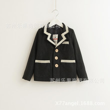 2016 new spring autumn Girls Kids boys College Wind woolen long-sleeved suit coat cute baby Clothes Children Clothing