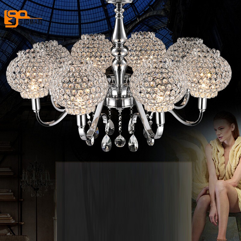 New Design Modern Chrome Chandelier Crystal Lighting For Living Room Bedroom  Chandeliers
