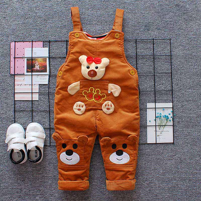 7d485c8f08e8 BibiCola baby boys overalls spring cartoon bear clothes denim jeans trousers  clothing for infant girls toddler ...