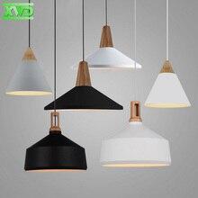 Modern Wooden Aluminum Foyer Pendant Lamp E27 Lamp Holder 110-240V Dining Room Pendant Lights Free Shipping