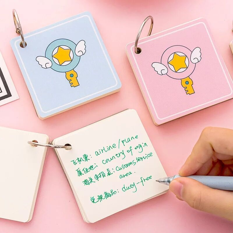 Kawaii Creative Mini Pocket Vocabulary Notebook Notes Memo Pad School Study Words Card Writing Reciting Book Planner
