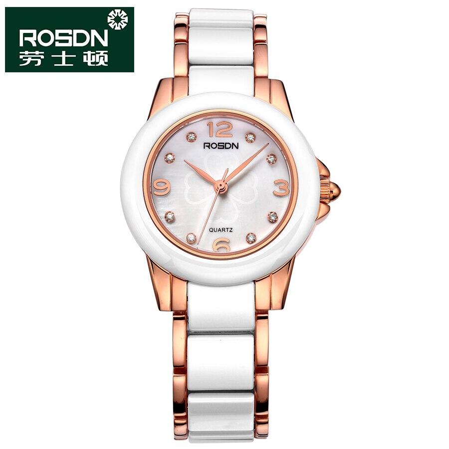 ROSDN 2016 New Watch Women Brand Luxury Fashion Casual Quartz Ceramic Watches Lady Relojes Mujer Women