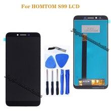 Homtom s99 lcd + 터치 스크린 교체 용 5.5 인치 오리지널 homtom s99 스크린 lcd 휴대 전화 부품 무료 배송