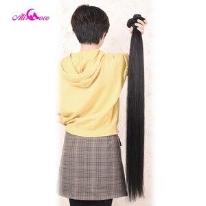 Image 5 - עלי קוקו שיער 30 אינץ 32 34 36 38 אינץ 40 אינץ חבילות לארוג ברזילאי שיער ישר רמי שיער טבעי צרור להתמודד טבעי צבע