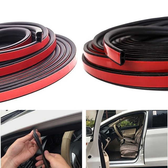 5m Self Adhesive Automotive Rubber Seal Strip for Car Window Door Engine Cover Car Door Seal Edge Trim Noise Insulation