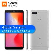 Küresel Sürüm Xiaomi Redmi 6 4 GB 64 GB Helio P22 Octa Çekirdek CPU 12MP + 5MP Çift Kameralar 5.45