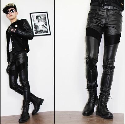 Leather Leggings Men