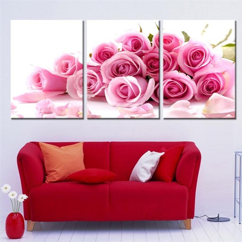 HTB19A0sXorrK1RkSne1q6ArVVXas 3 pcs DIY Oil Painting by Numbers Flower Triptych Pictures Animal Coloring Landscape Abstract Paint Wall Sticker Home Decor Gift