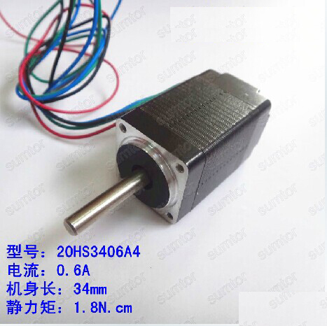 ФОТО nema 8 stepper motor  20hs3406a4 20mm small motor 34mm fuselage  2 phase 4 wire for 3D printer