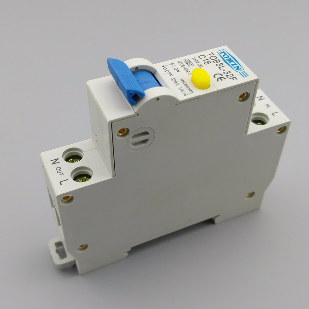 18MM RCBO 16A 1P+N 6KA Residual Current Differential Automatic Circuit  Breaker With Over Current Leakage Protection In Circuit Breakers From Home  ...