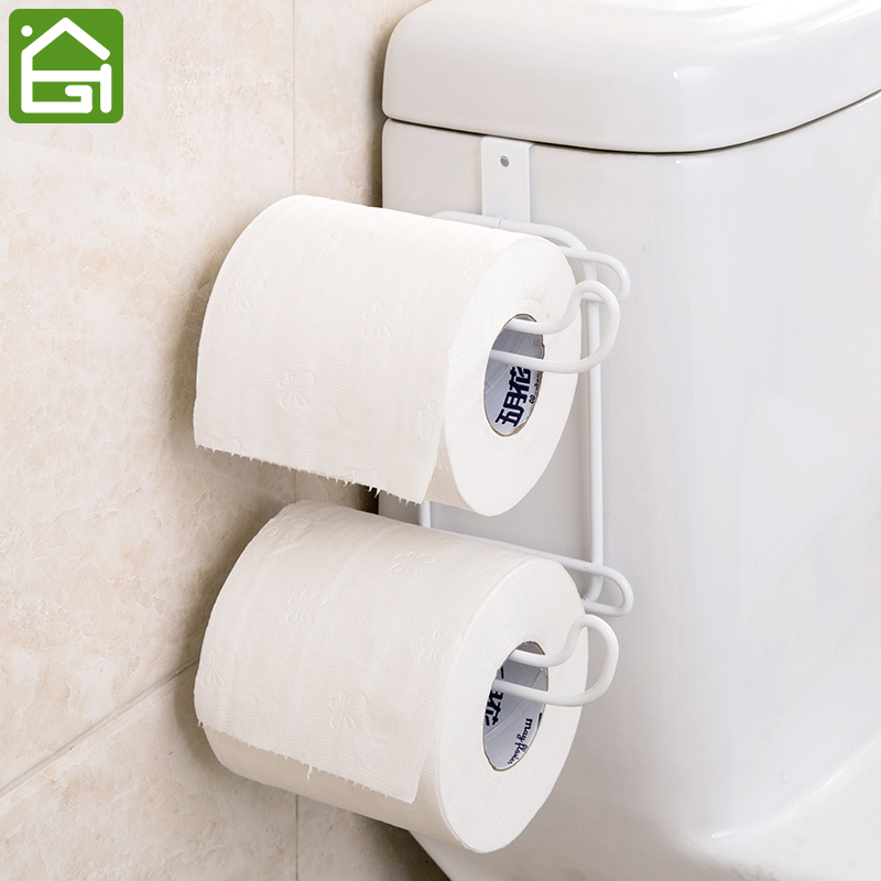 2 Layers Bathroom Hanging Organizer Toilet Roll Paper