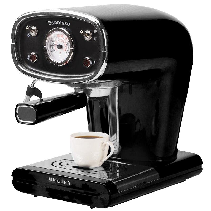 220 В Полуавтоматическая кофеварка для кипения эспрессо 15Bar из нержавеющей стали Паровой пенопласт кофе машина черный красный цвет
