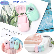 Tablets Soap Bath Travel 50pcs Scented-Slice-Sheets Foaming-Box Washing-Hand-Wipes Small