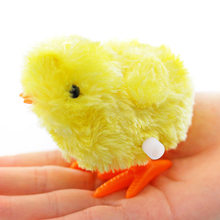 Lovely Cartoon Yellow Chick Wind Up Clockwork Toys Kids Plush Wind-up Walking Toys Baby Toys(China)