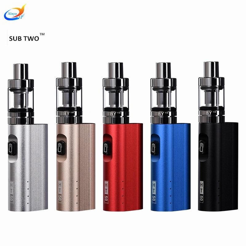 Hot Vape Electronic Cigarette kit vape mod HT 50W Box Mod Hookah pen 0.5ohm Vaporizer pen hookah e cigarette electronic hookah