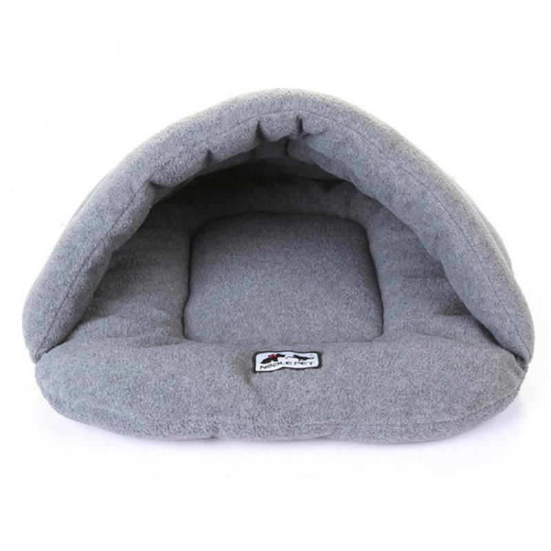 Image 4 - Soft Fleece Winter Warm Pet Dog Bed 4 different size Small Dog Cat Sleeping Bag Puppy Cave Bed Free shipping-in Houses, Kennels & Pens from Home & Garden