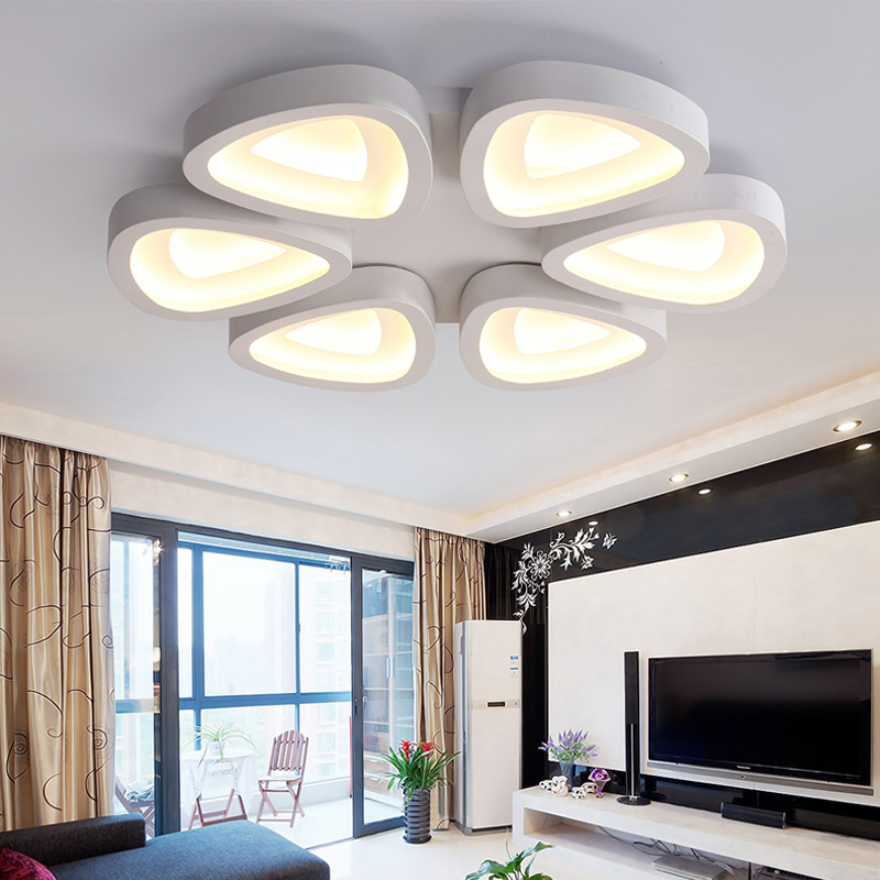 modern living room lamps LED Lamps lighting lamp decoration personalized flower type iron bedroom lamp warm
