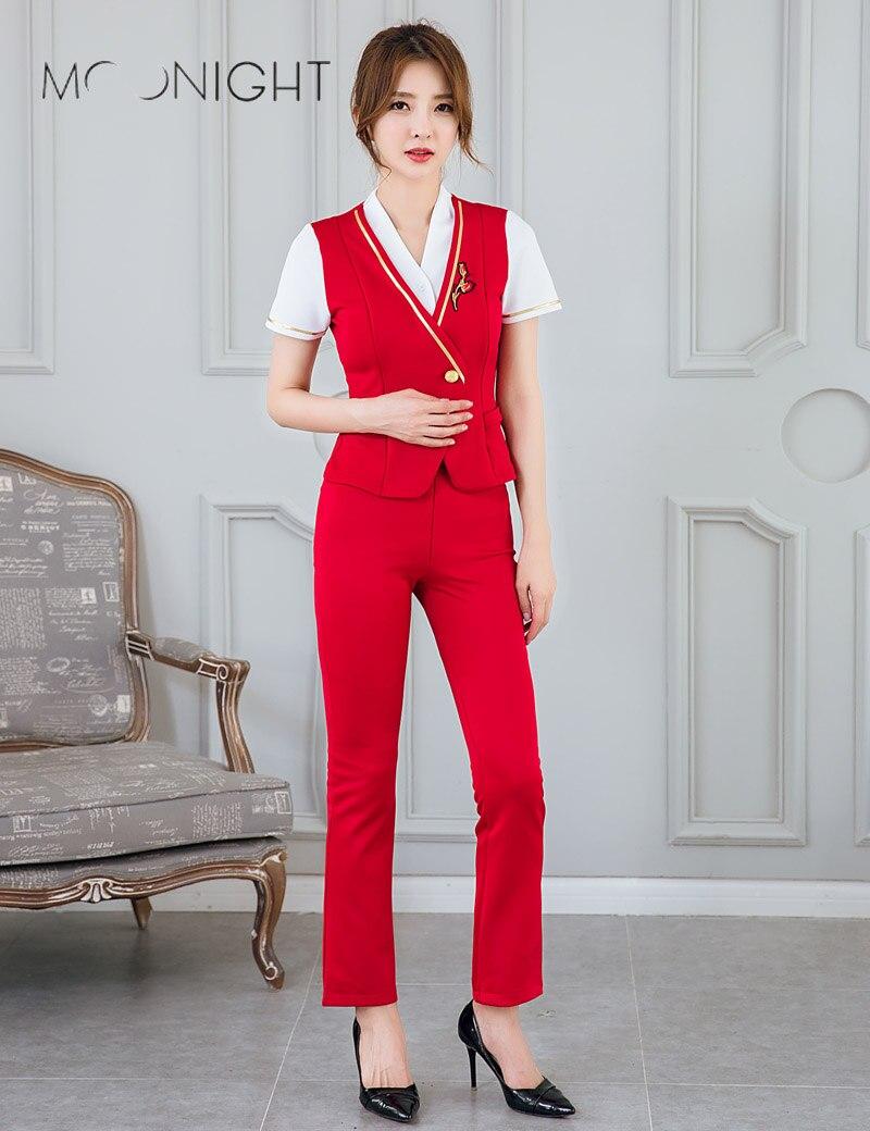 Air Hostess Assistente di Volo Cabin Crew Da Donna uniforme Costume