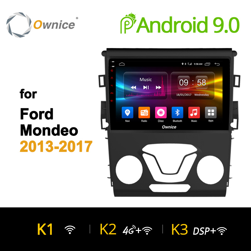 Ownice K1 K2 Octa core Android 8.1 Car 2 Din Radio GPS DVD player for Ford Mondeo 2013 - 2017 car audio stereo Multimedia GPS